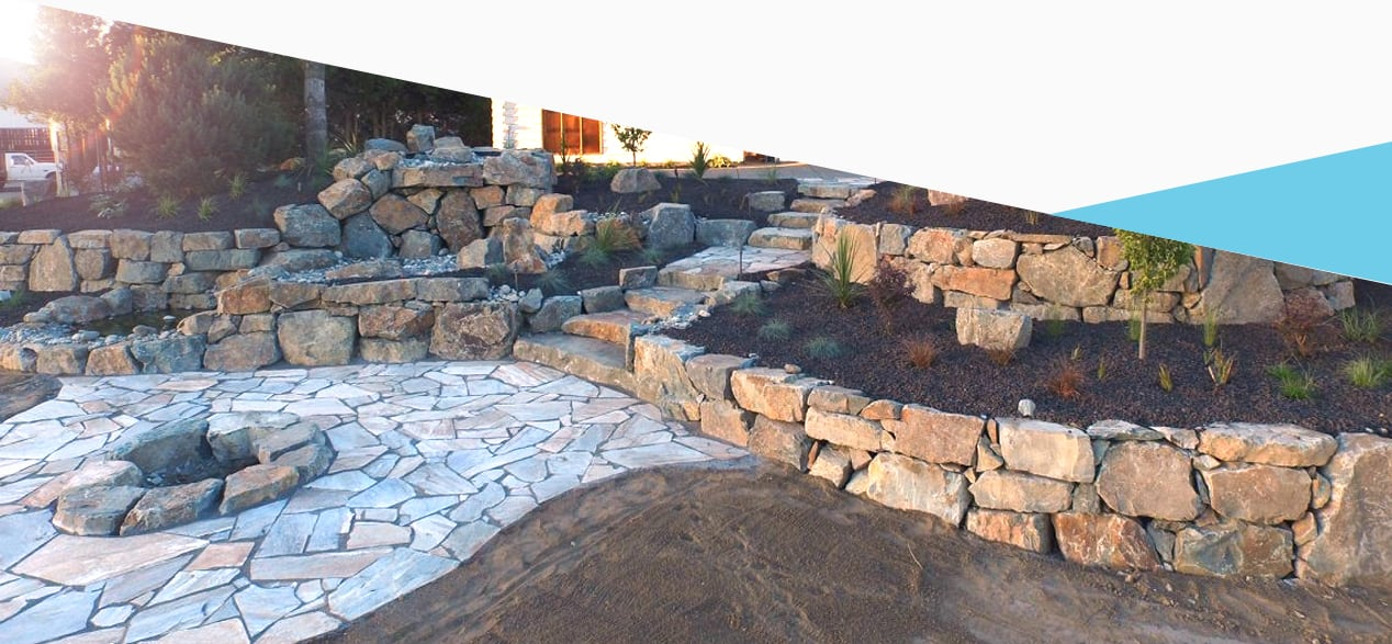 hardscape design and construction of backyard